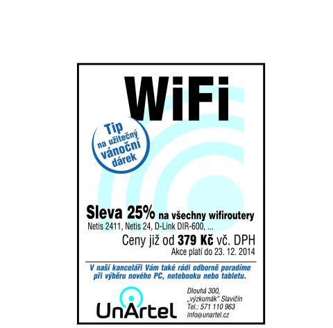 Vánoční akce - wifi routery